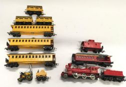 Triang R346 Stephensons Rocket Set together with RS37 Davy Crocket The Frontiersman Train Set (see