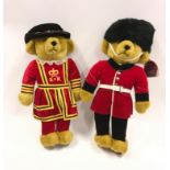 Two Merrythought Guards teddy bears.