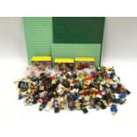 Large collection of Lego minifigures to include Harry Potter and Star Wars.