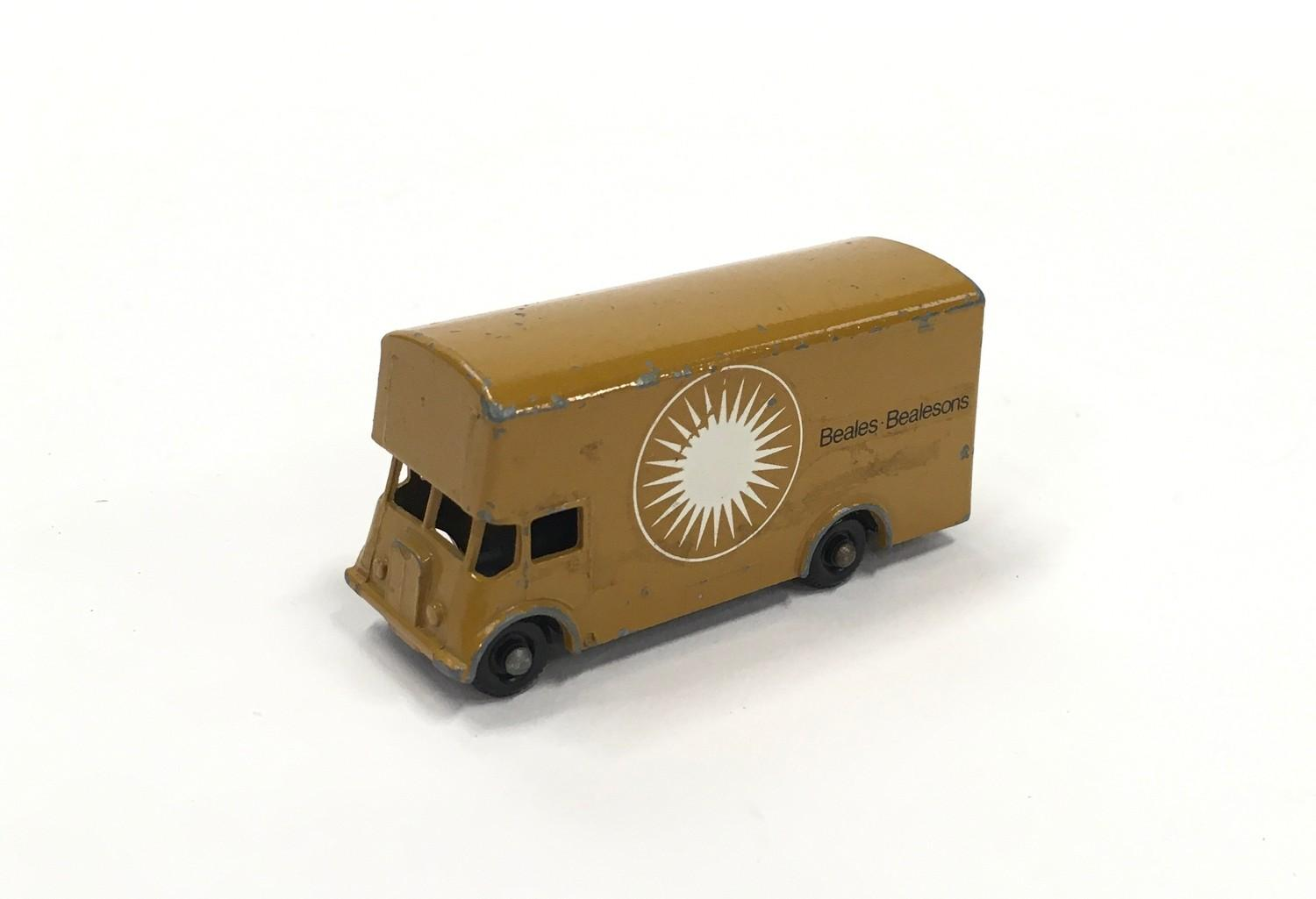 "Matchbox Regular Wheels No.46b Guy Removal Van ""Beales Bealesons"" Promotional Issue - tan type B"