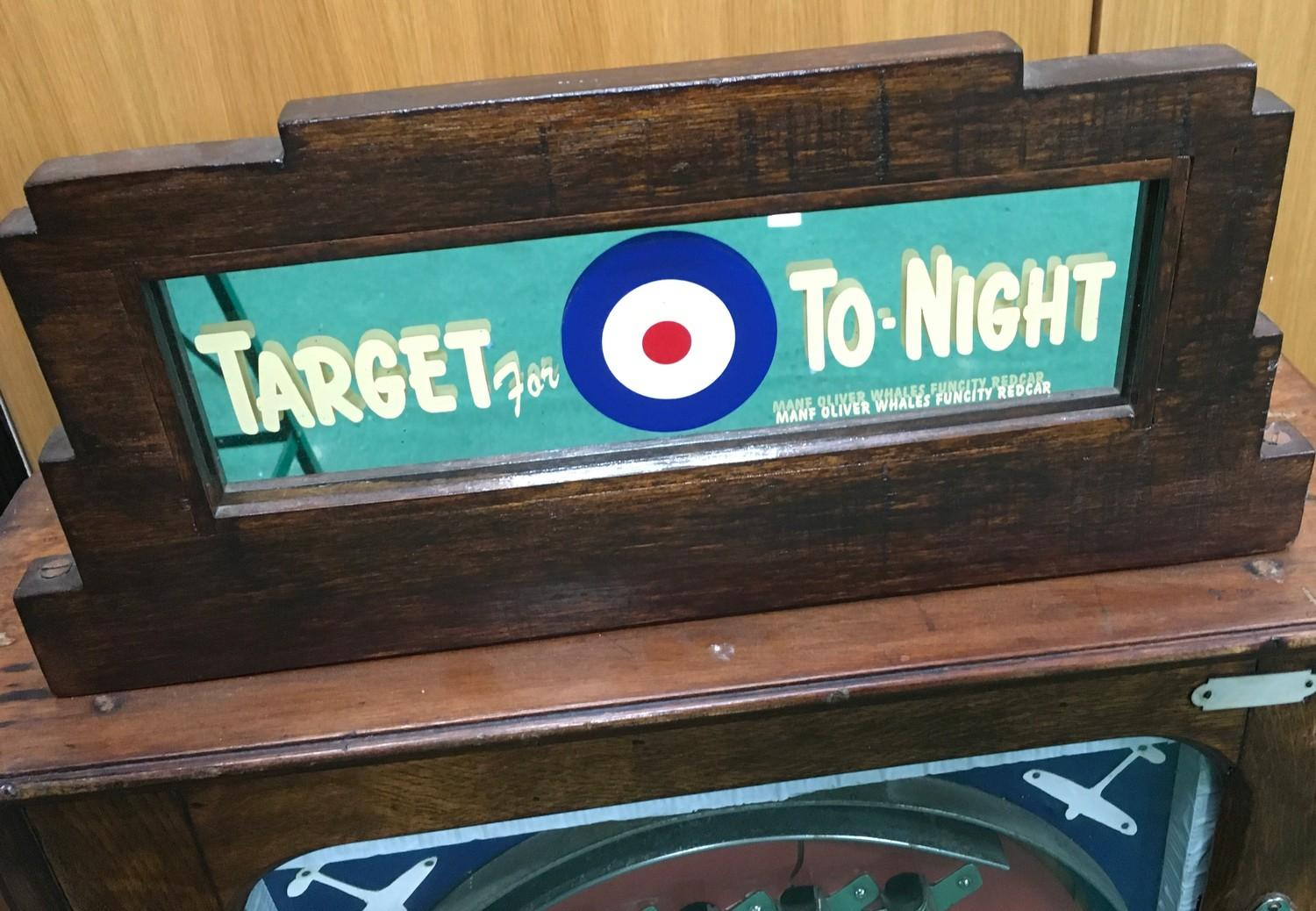 Target for To-Night - Whales Allwin slot machine - working on old 1d. - Image 2 of 3