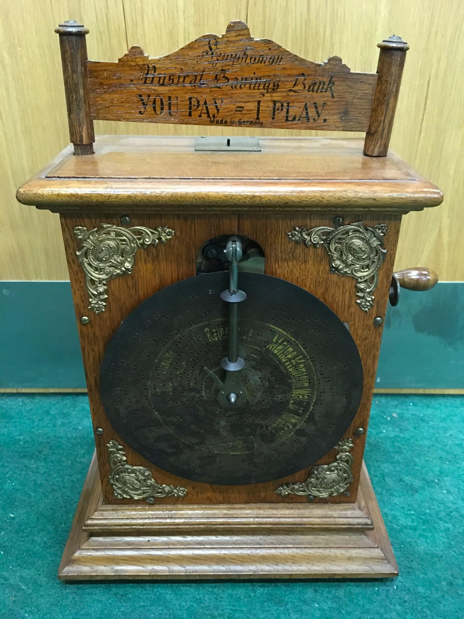 Extremely Rare Small Coin Operated Symphonium No.105 The Kaisers Music Box. Made in approx 1900. - Image 2 of 2