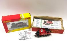2 x Hornby locomotives with Cadbury Bourneville logo - R3361 0-4-0 'Hogarth Stone' - Appears Near
