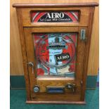Aero Vending Allwin Ruffle & Walker. Old 1d play, with key.