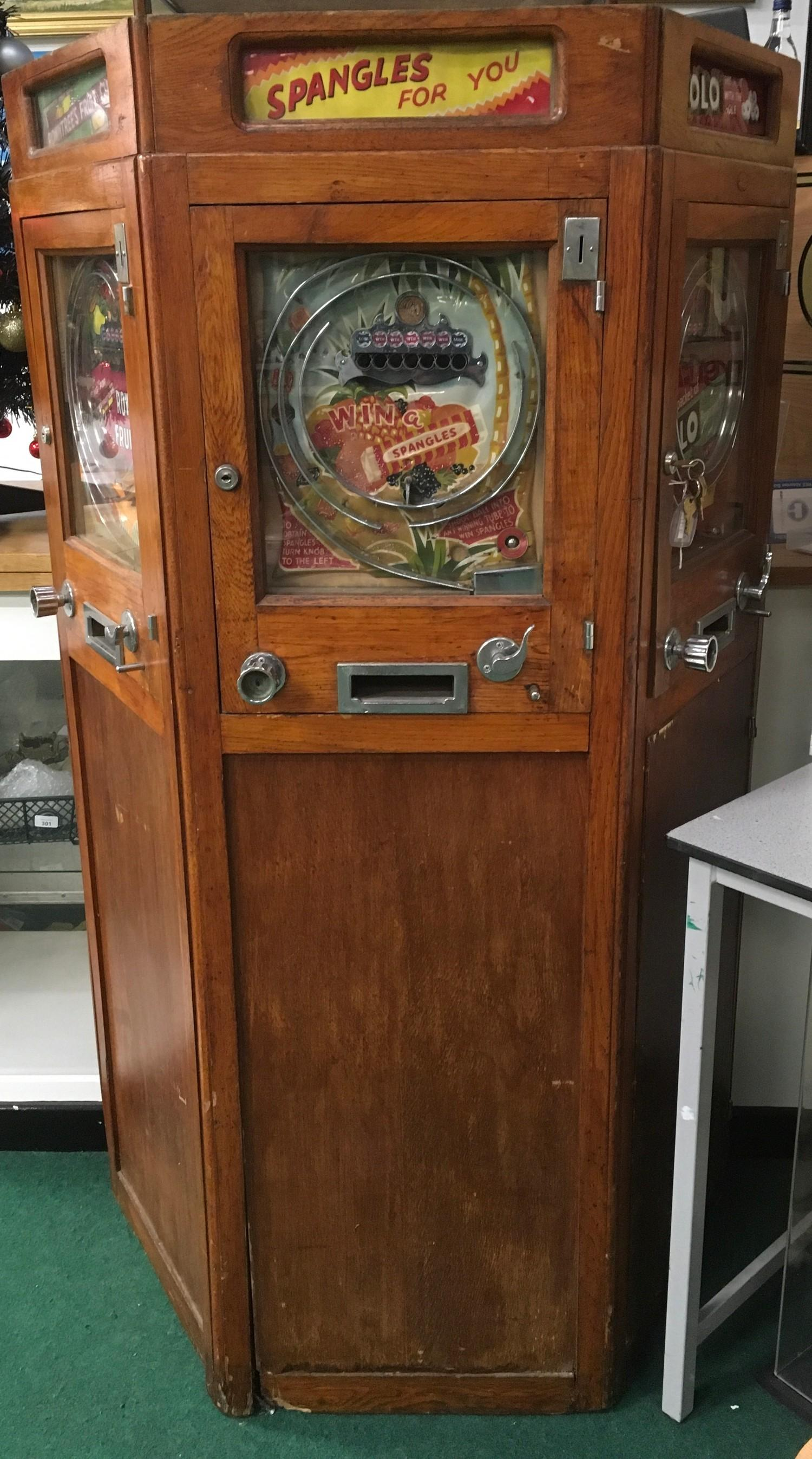 Ruffler & Walker Allwin 3 in 1 case slot machine. Originally working on old 1d But