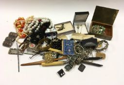 Mix box of costume and other jewellery