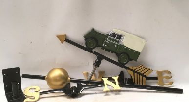 A Land Rover weather vane (ref 166)