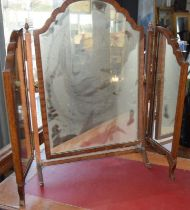 Edwardian mahogany folding dressing table mirror glass needs a good clean but intact