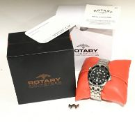 Gents Rotary Aquaspeed watch with box and some paperwork clean working watch