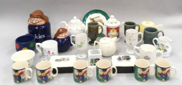 Quantity of Wade teapots, coffee mugs, Jugs, Cups etc.