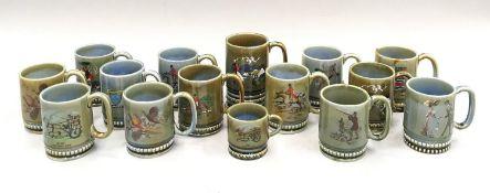 Quantity of Wade Irish mugs.(15)