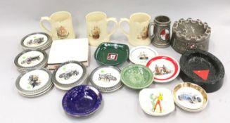 Wade Breweriana pin trays, mugs and ashtrays etc.