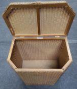 Lloyd loom lidded laundry basket