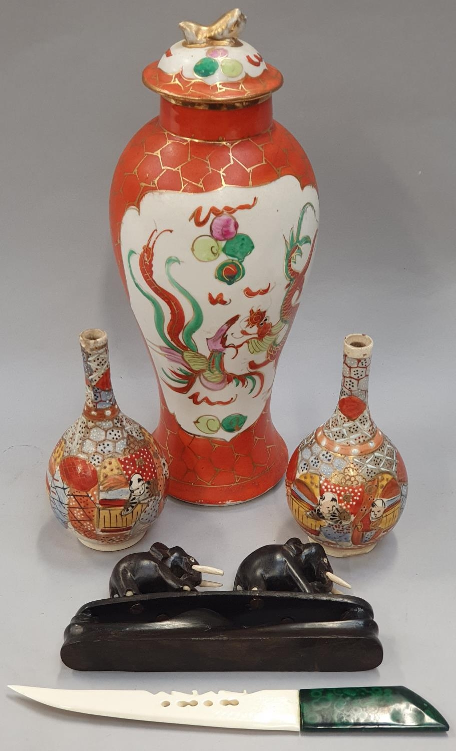 Quantity Oriental curios to include vases etc