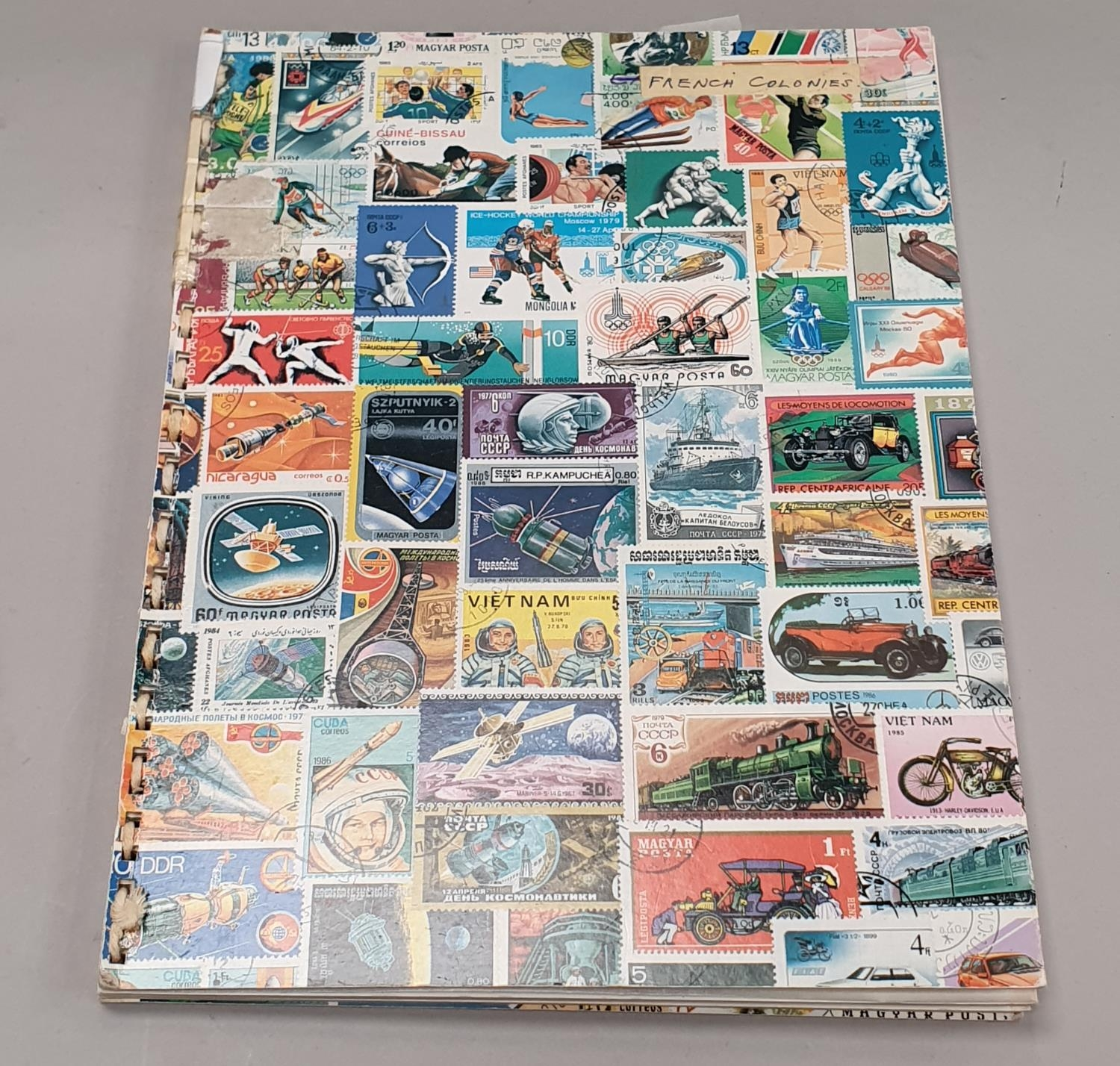"""Multi coloured album of French Colonies stamps """"260"""". - Image 5 of 5"""