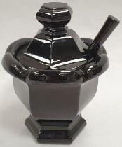 Baccarat black jam pot.