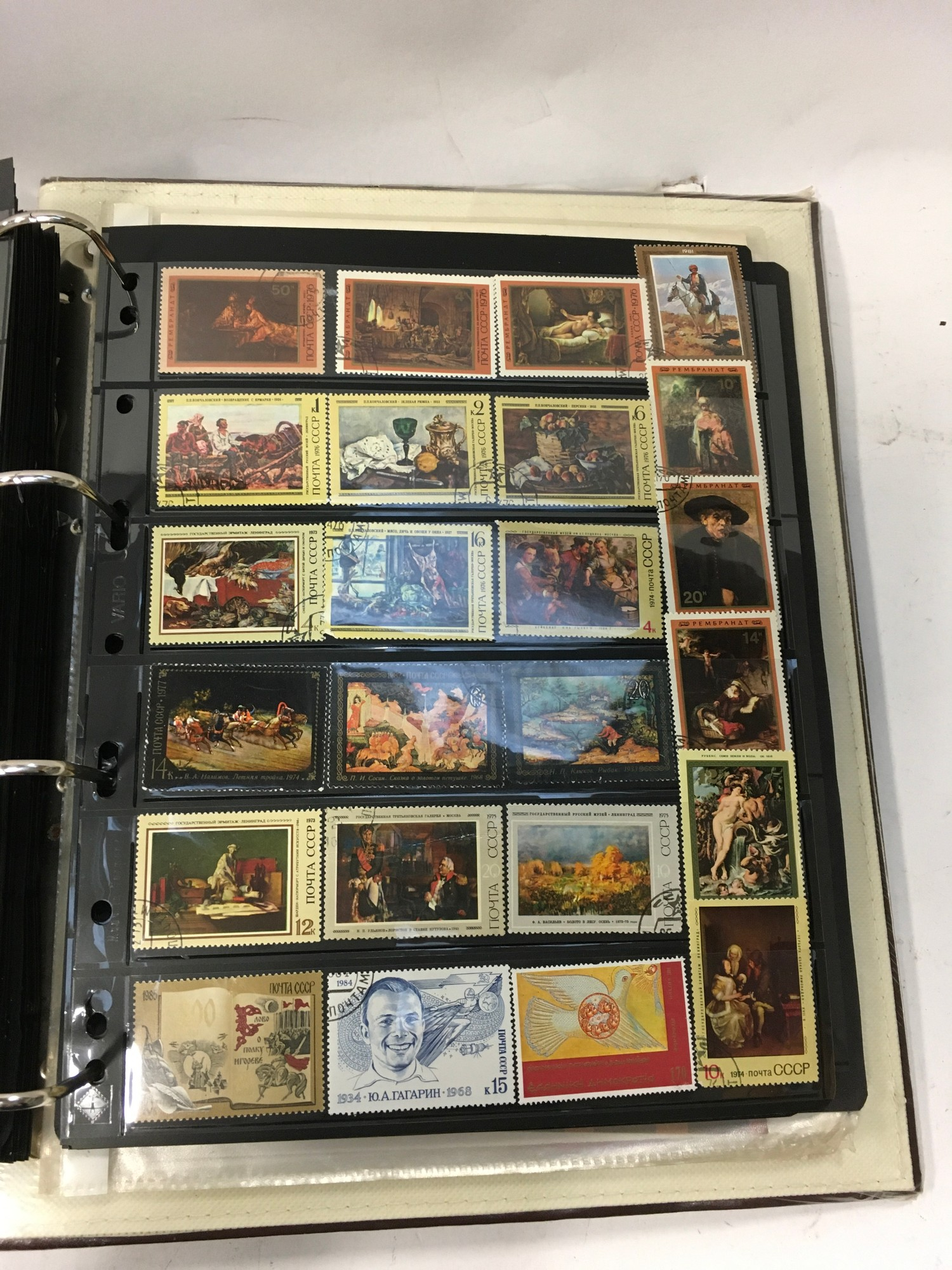An album of USSR stamps and some mini sheets - Image 3 of 8