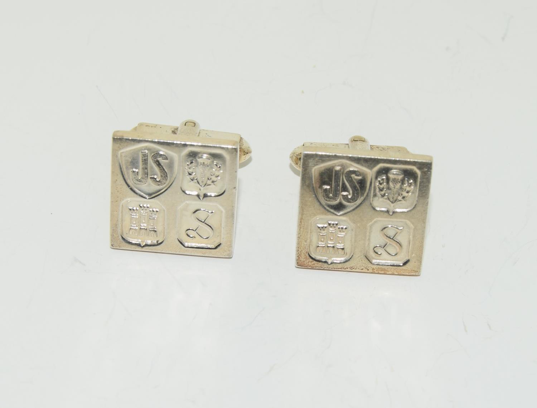 Pair gents silver ingot cufflinks - Image 3 of 5