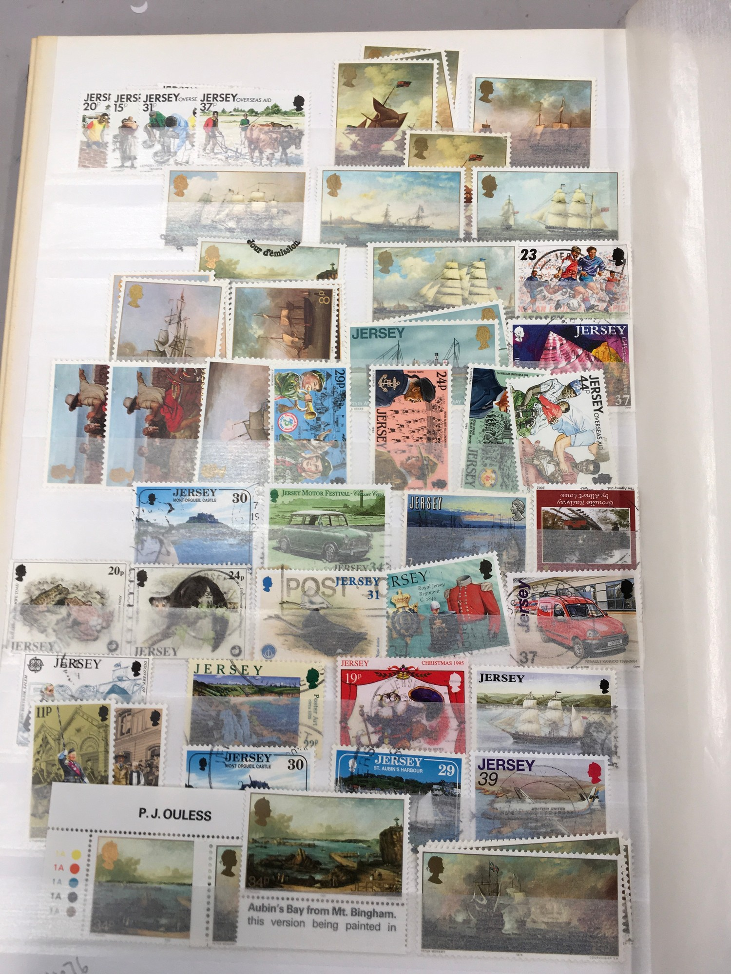 3 x Albums containing Channel Islands, Jersey Guernsey and Alderney over £800 in mint stamps. - Image 15 of 21