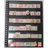 British Guiana .Double sided stockcard of mint/used