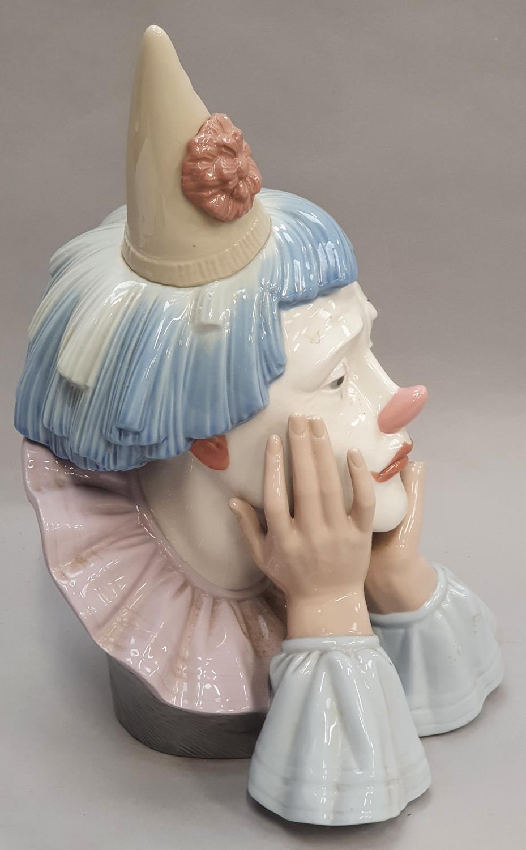 Lladro clown head 31x16x15cm. - Image 4 of 7