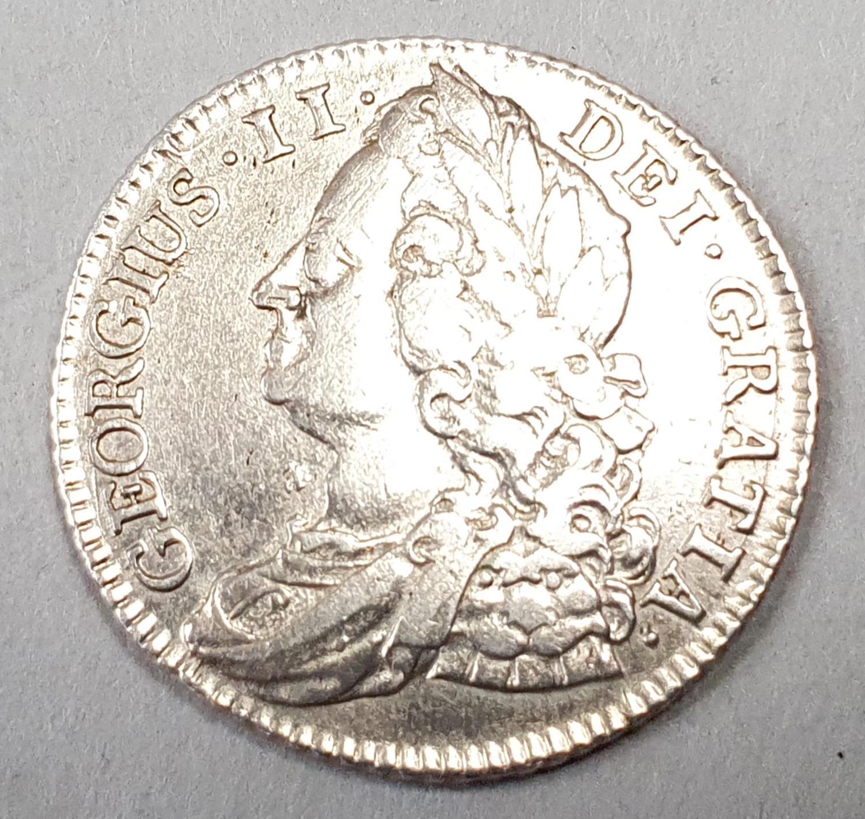 George VII 1743 Shilling. - Image 2 of 2