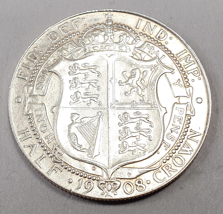 Edward Vii half crown 1908.