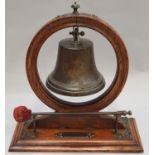 Vintage school bell with striker 31x28x14.