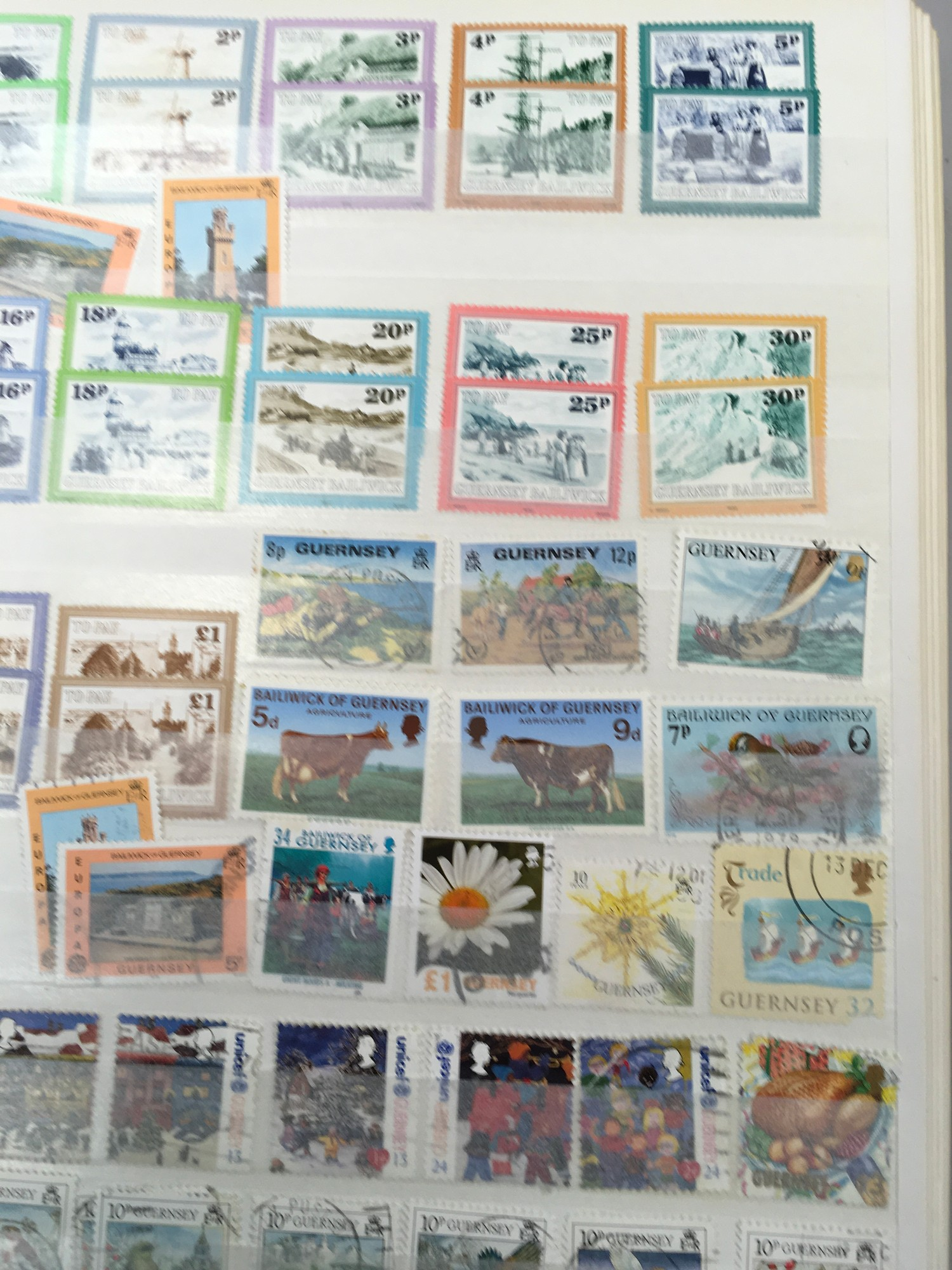 3 x Albums containing Channel Islands, Jersey Guernsey and Alderney over £800 in mint stamps. - Image 2 of 21