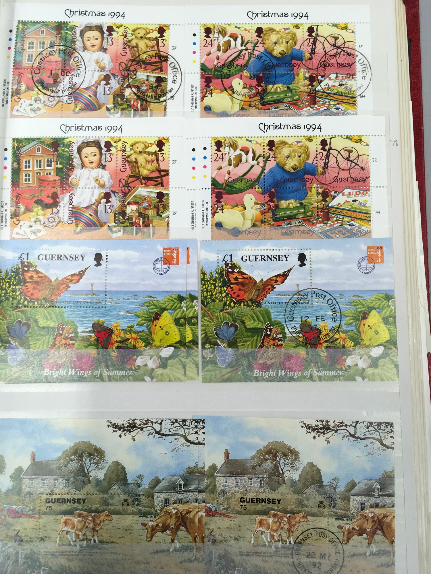 3 x Albums containing Channel Islands, Jersey Guernsey and Alderney over £800 in mint stamps. - Image 9 of 21