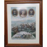 Vintage framed military picture 66.5x81cm.