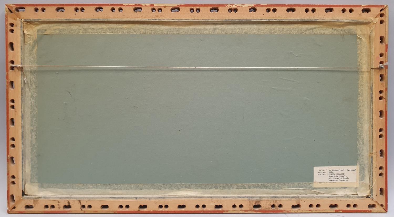 Gilt framed oil on board of local Wareham scene signed Roland Bullock 78x43cm. - Image 3 of 4