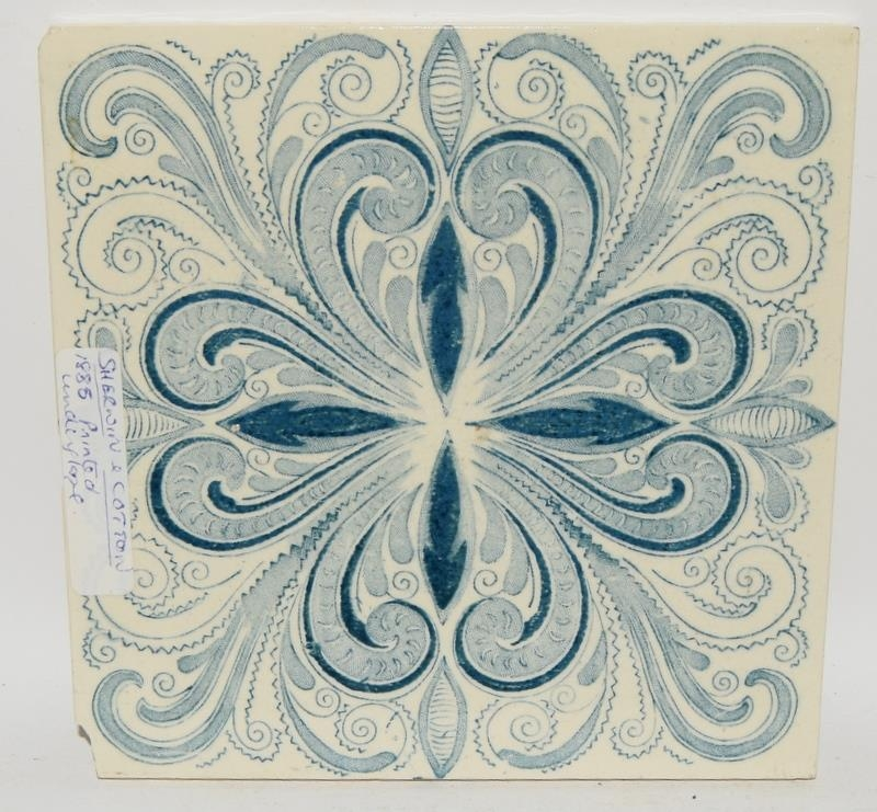 """Transfer printed tiles to include examples by Wedgwood, Sherwin & Cotton, each tile 6"""" x 6"""" (4) - Image 3 of 12"""