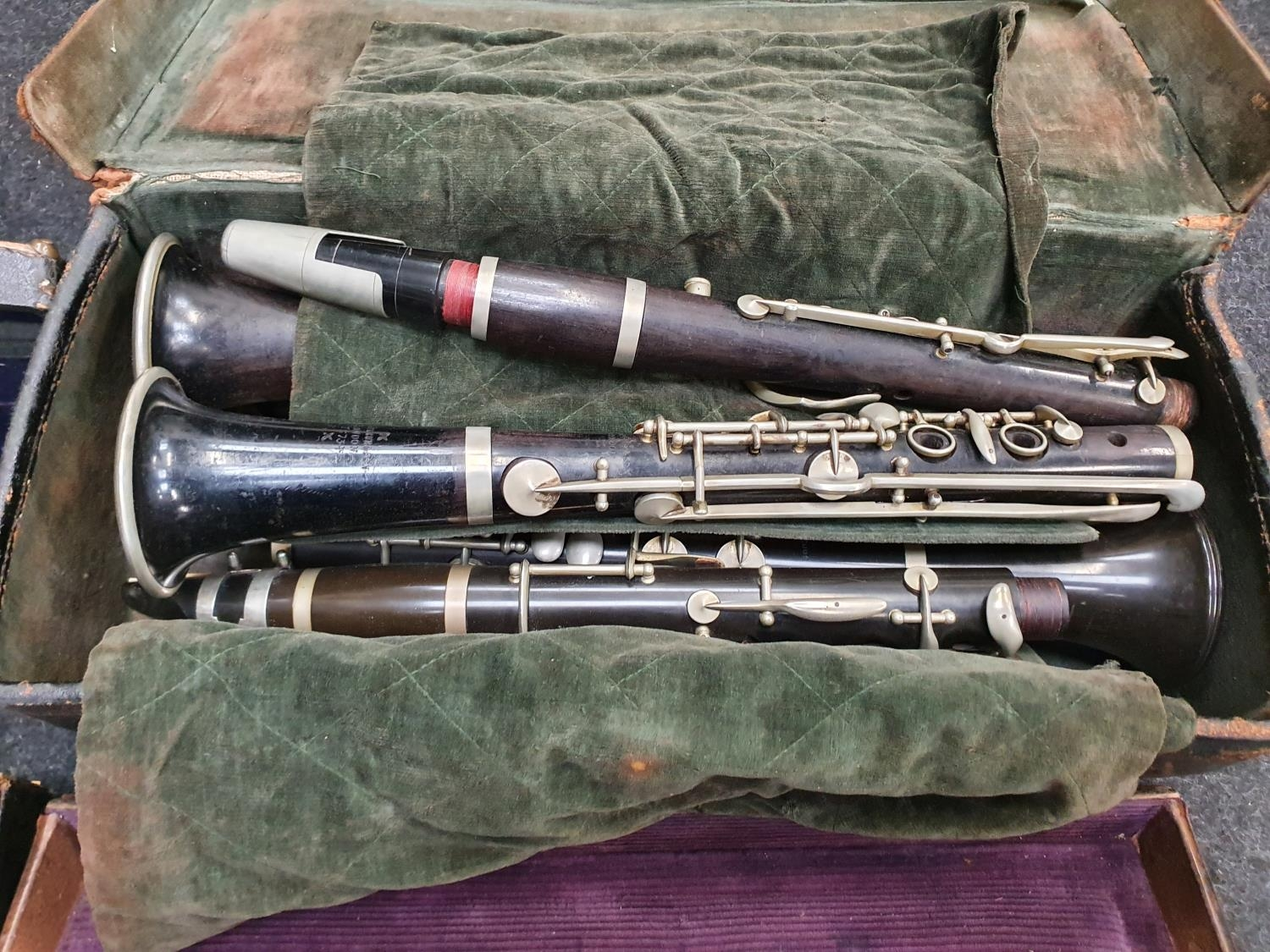 Case of vintage clarinets. - Image 3 of 6