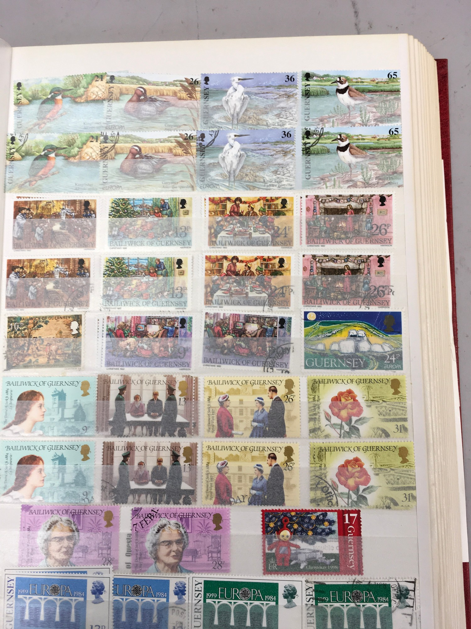 3 x Albums containing Channel Islands, Jersey Guernsey and Alderney over £800 in mint stamps. - Image 5 of 21