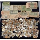 """Collection of mixed coinage and banknotes to include 11 sets of """"Britain's First Decimal Coins""""."""