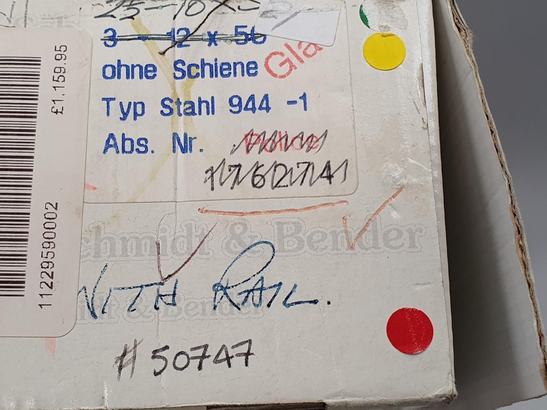 Schmidt & Bender 3x12x56 scope boxed. - Image 4 of 7