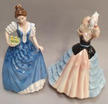Two Royal Doulton lady figurines H.N. 2952 Susan and H.N. 3601 Helen.