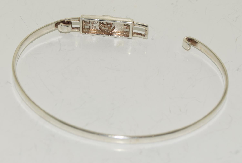 Mackintosh Scottish Rose 925 silver bangle. - Image 3 of 3