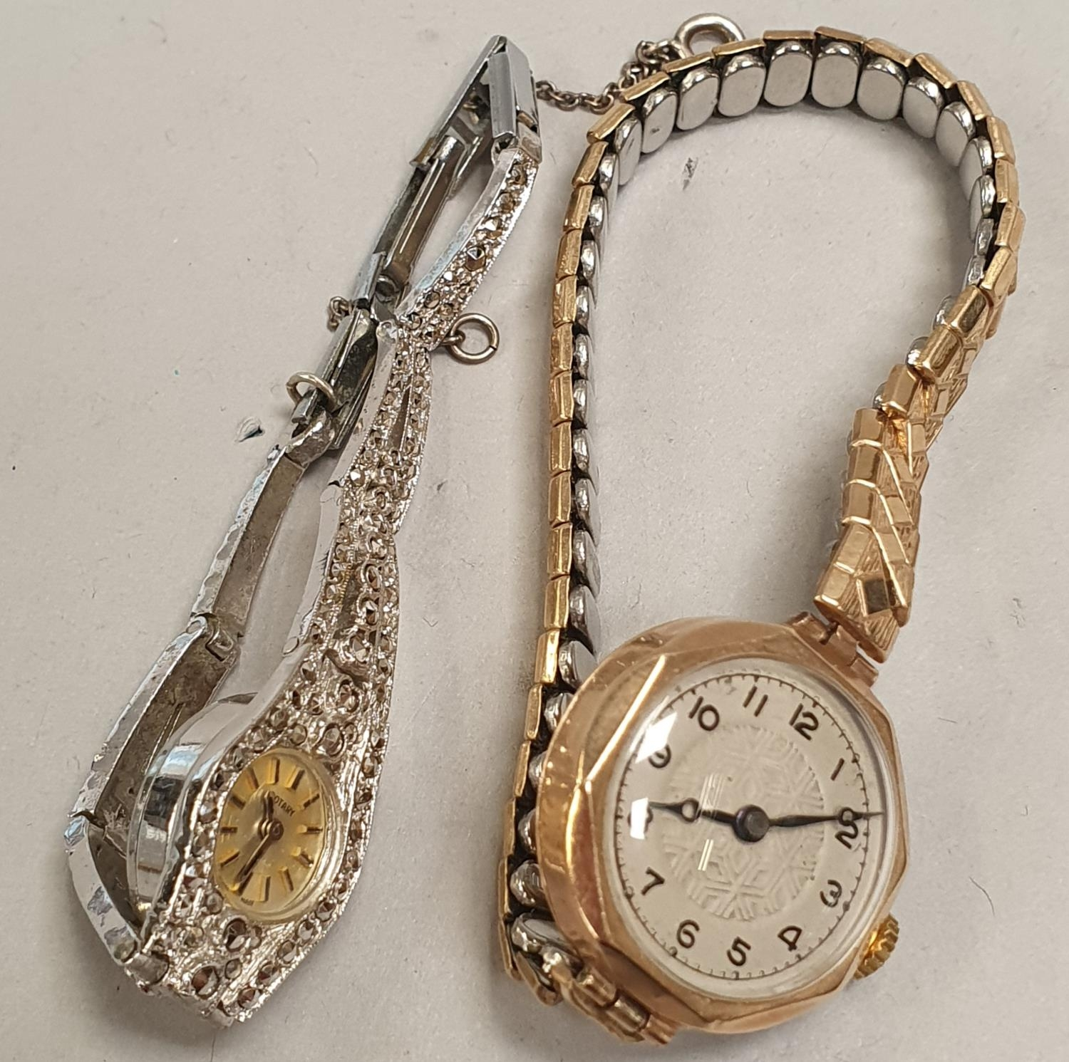 Pair of ladies watches to include 1 9ct gold.