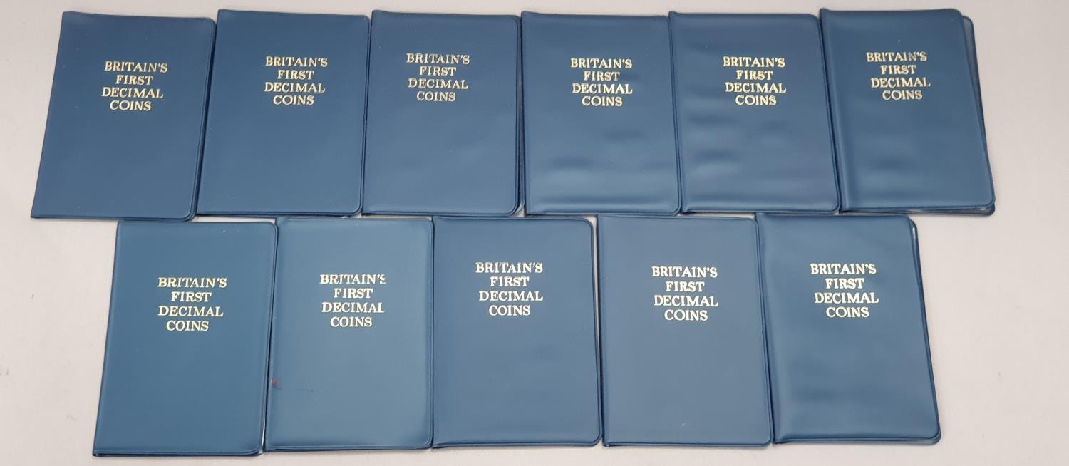 """Collection of mixed coinage and banknotes to include 11 sets of """"Britain's First Decimal Coins"""". - Image 5 of 5"""