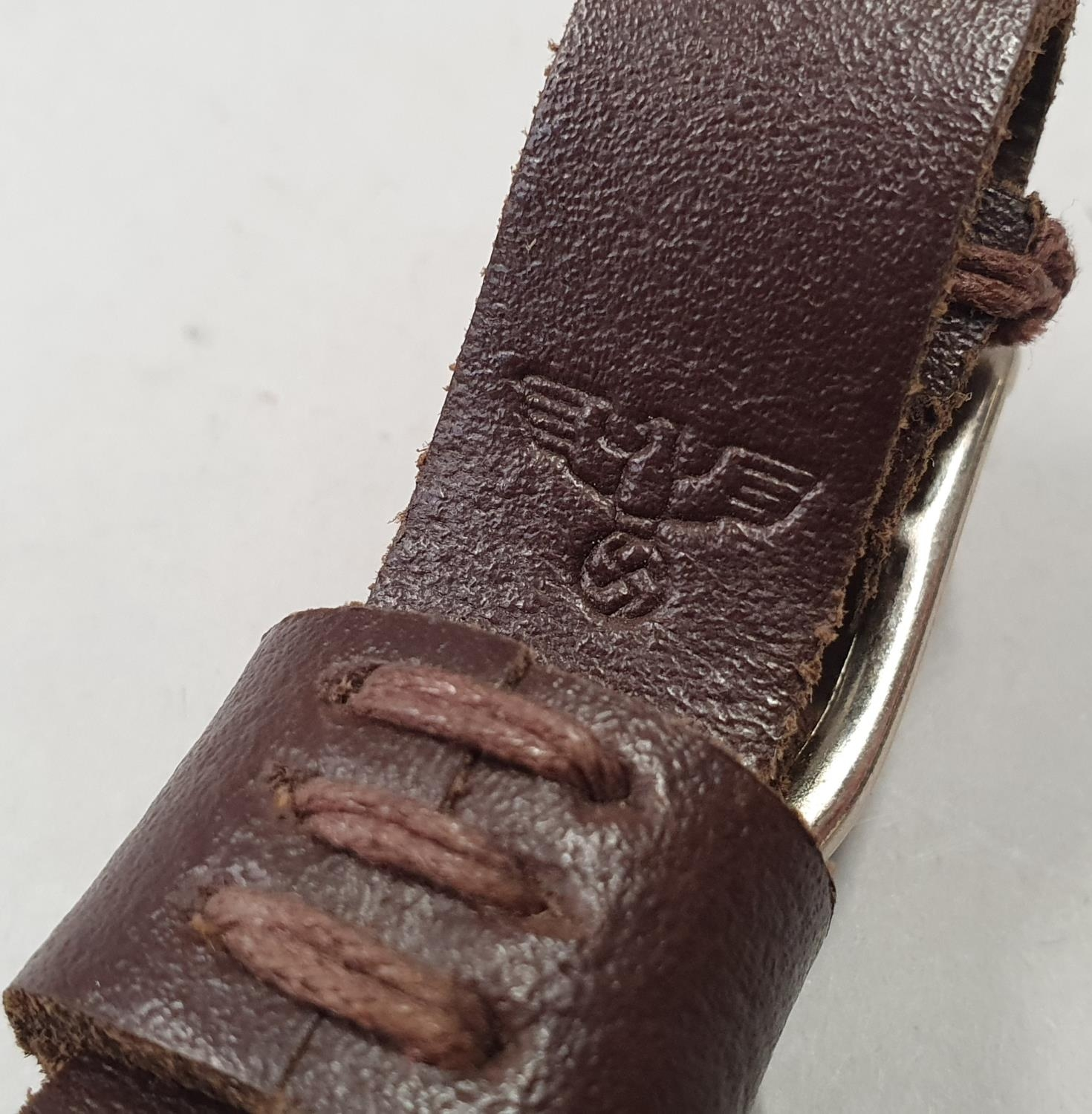 Nazi Third Reich wood handle dagger with emblem and engraving to blade - Image 7 of 9