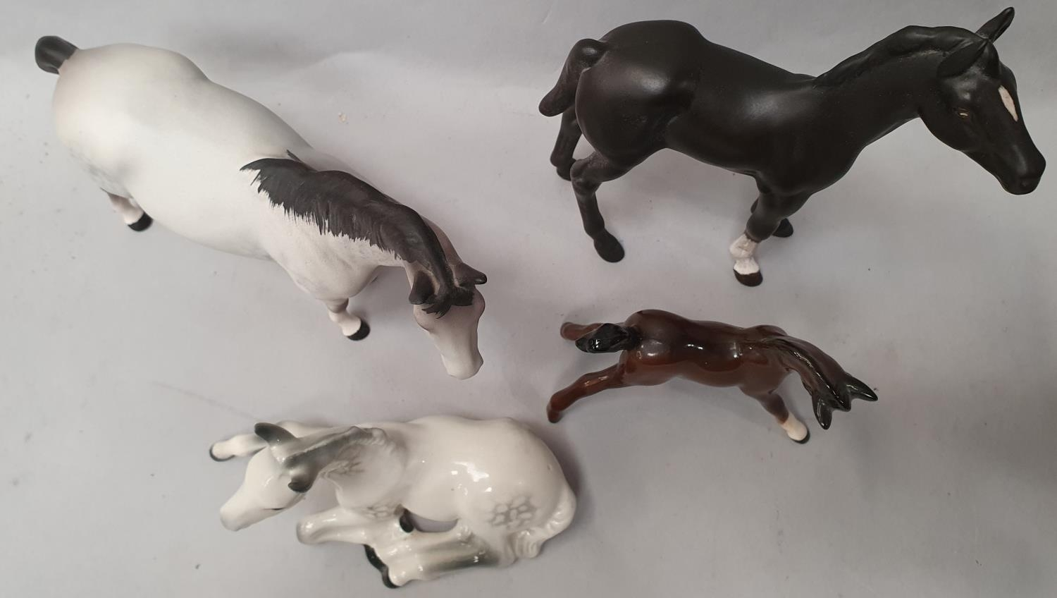 Four assorted Beswick horses. - Image 2 of 6