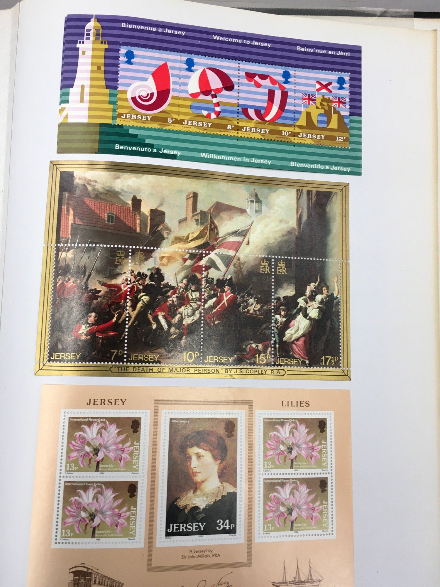 3 x Albums containing Channel Islands, Jersey Guernsey and Alderney over £800 in mint stamps. - Image 17 of 21