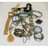 Various ladies watches and other jewellery