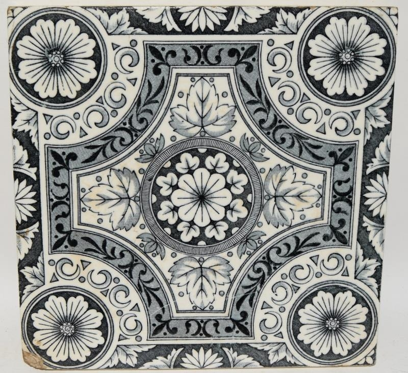 """Transfer printed tiles to include examples by Wedgwood, Sherwin & Cotton, each tile 6"""" x 6"""" (4) - Image 6 of 12"""