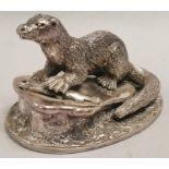 Alden Arts Co. Otter sculpture.