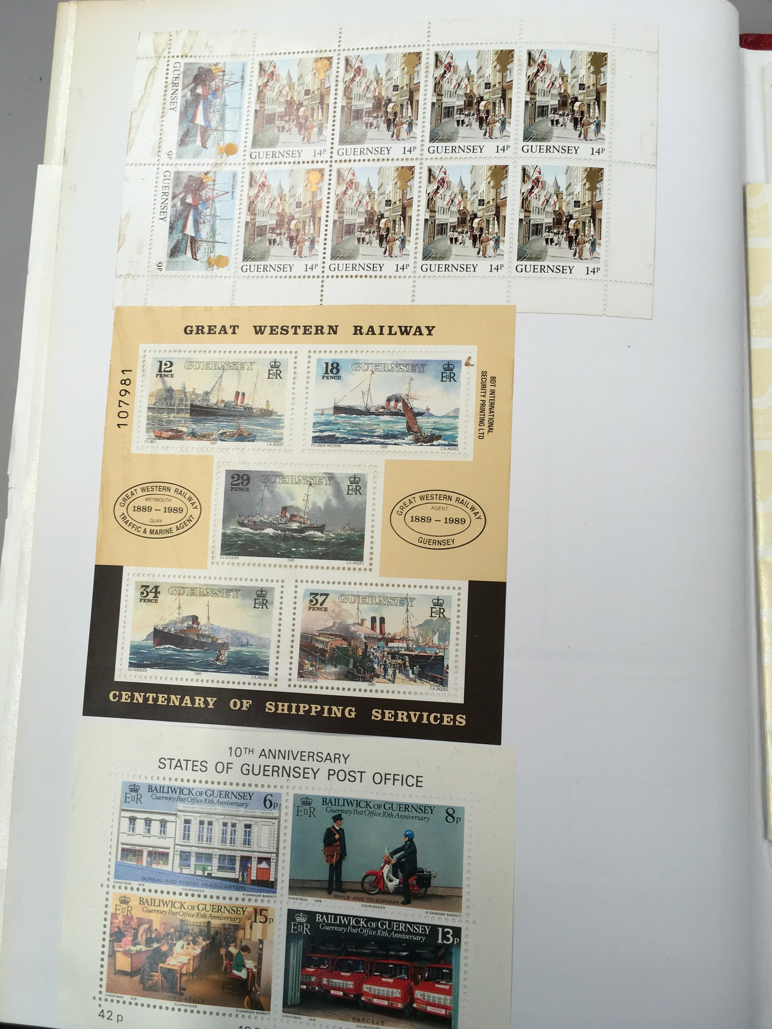 3 x Albums containing Channel Islands, Jersey Guernsey and Alderney over £800 in mint stamps. - Image 10 of 21