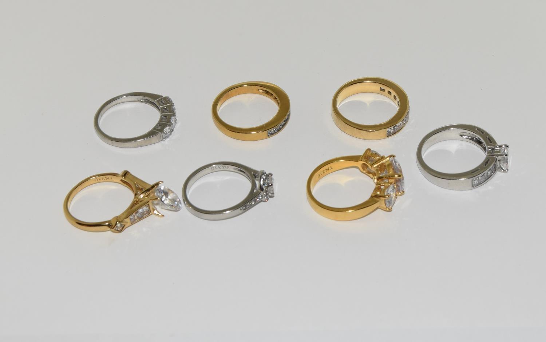 Seven ladies rings TK316 by TUSK Jewelery (New) - Image 2 of 3