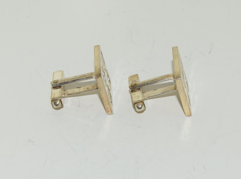 Pair gents silver ingot cufflinks - Image 4 of 5